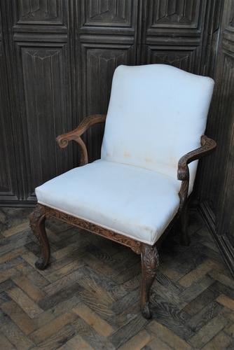 Antique Gainsborough Style Open Armchair c.1860 (1 of 6)