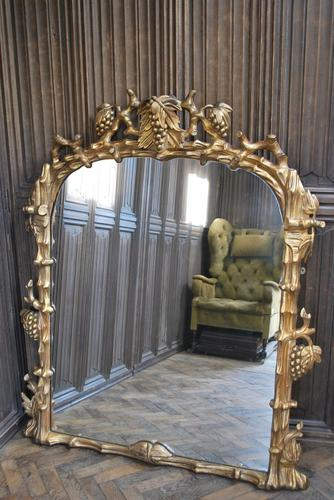 Large English Giltwood Overmantle Mirror (1 of 7)