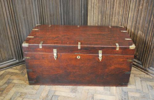 Antique Indian Teak Campaign Box (1 of 9)