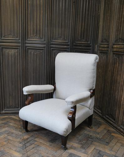 Antique Scottish Upholstered Reclining Armchair (1 of 8)