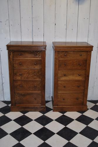 Antique Pair of Walnut  Wellington Chests (1 of 1)