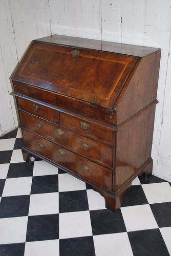 English Antique William & Mary Walnut Bureau / Desk (1 of 1)
