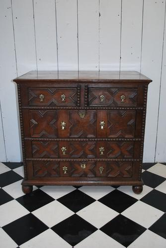 William and Mary Antique Oak Chest of Drawers (1 of 1)