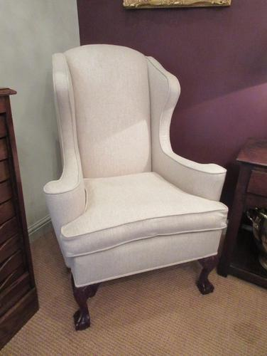 Antique George III Style Wing Back Armchair c.1890 (1 of 5)