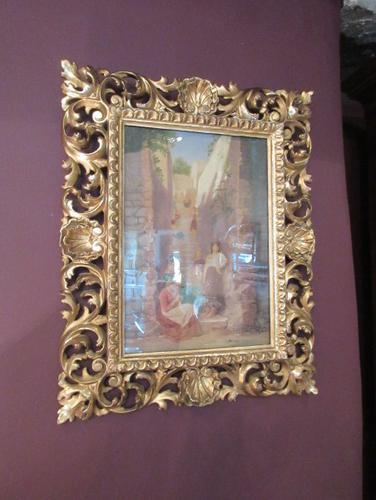 Antique Italian School Oil on Canvas Painting (1 of 6)