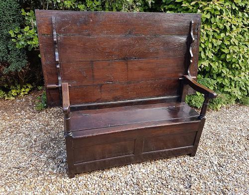 Superb George I Period Oak Settle Table c.1720 (1 of 9)