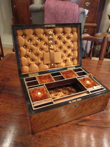 Immaculate Victorian Rosewood Inlaid Needlework Box c.1870 (1 of 1)