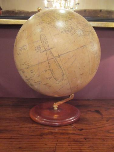 "Large Phillip's 12"" Papier Mache Terrestrial Globe (1 of 1)"