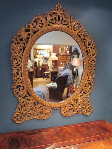 Impressive Art Nouveau Gilded Fretwork Mirror (1 of 1)