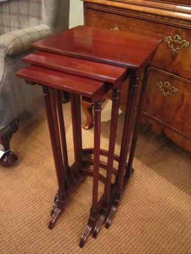 Immaculate Victorian Nest of Three Occasional Tables c.1880 (1 of 1)