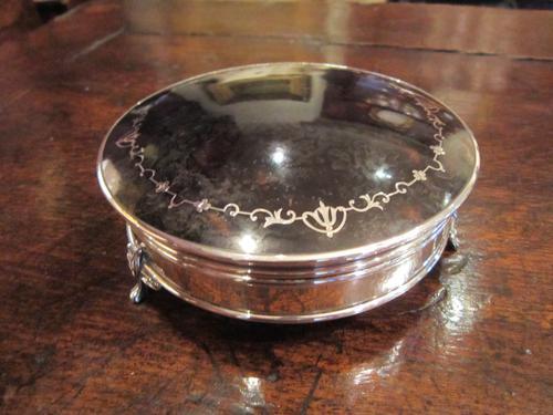 Fine George V Large Silver & Tortoiseshell Jewel Box (1 of 1)