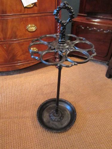 Decorative Victorian Cast Iron Stick Stand (1 of 1)