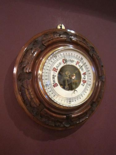 Top Quality Victorian Polished Walnut Barometer (1 of 1)