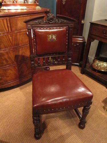 Superb Victorian Oak Court Room Hall Chair (1 of 1)
