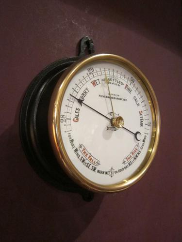 Rare Victorian Cast Iron Fisherman's Barometer (1 of 1)