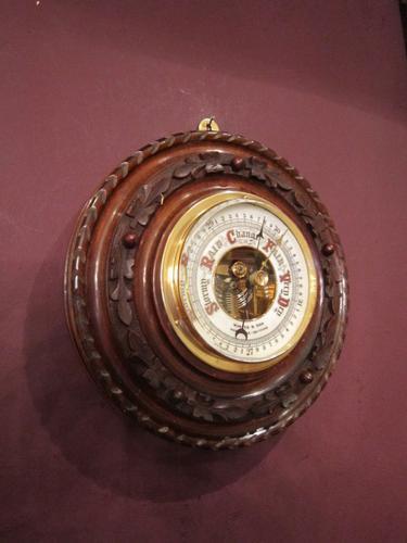 High Quality Victorian Polished Walnut Barometer (1 of 1)