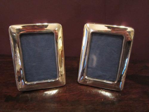 Pair of Edwardian Silver Matching Photo Frames (1 of 1)
