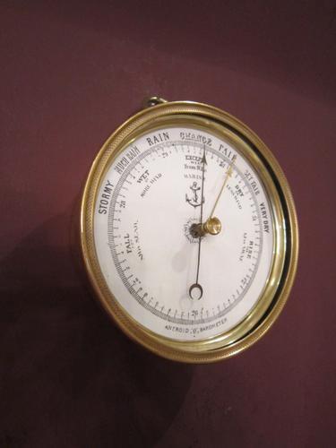 Top Quality Victorian Bronze Marine Barometer (1 of 1)