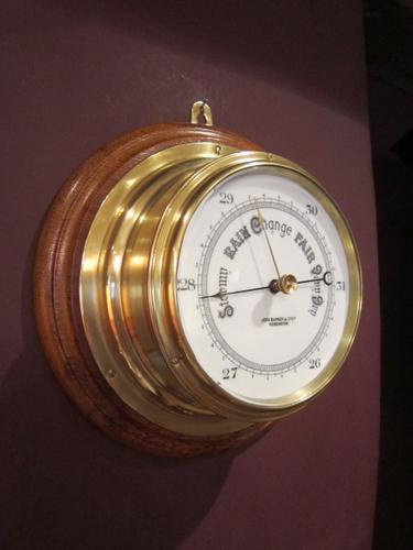 High Quality Victorian London Bulkhead Marine Barometer (1 of 1)