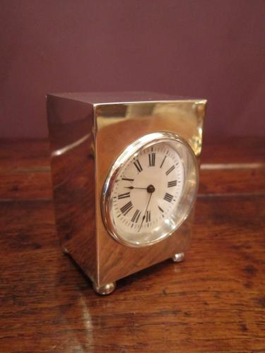 Fine Edwardian Miniature Silver Carriage Clock (1 of 1)