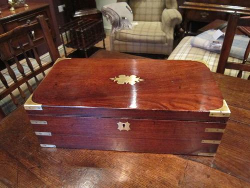 Superb Early Victorian Mahogany Writing Slope (1 of 1)