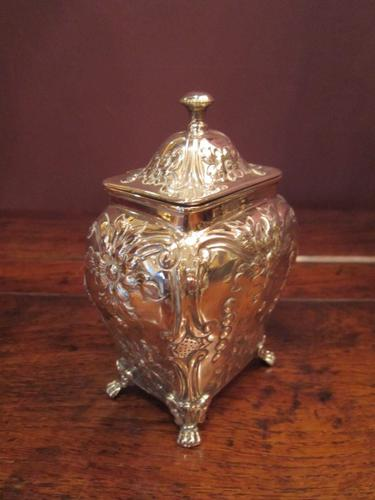 High Quality Edwardian Silver Tea Caddy (1 of 1)