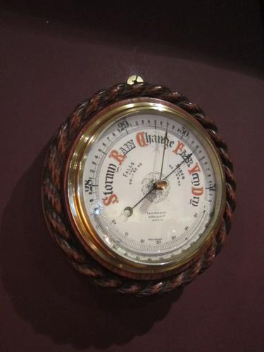 Superb Victorian London Ships Barometer (1 of 1)