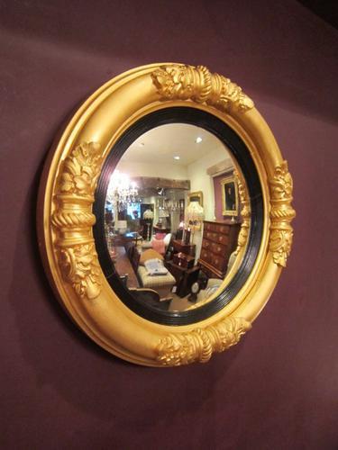 Superb Regency Gilt Convex Mirror (1 of 1)