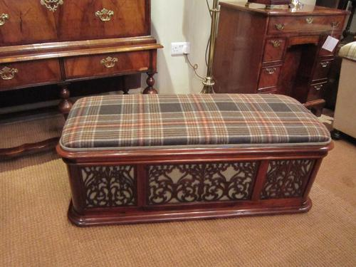 Stunning Early Victorian Rosewood Fretwork Ottoman (1 of 1)