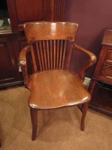 High Quality Victorian Polished Oak Desk Chair (1 of 1)