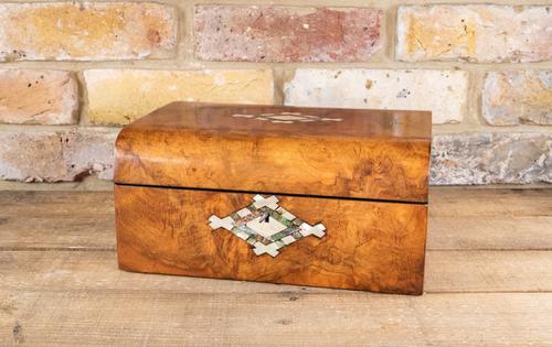 Burr Walnut Table Box c.1870 (1 of 7)