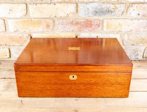 Large Mahogany Storage Box c.1850 (1 of 8)