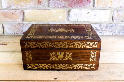 Rosewood Table Box Regency c.1820 (1 of 1)