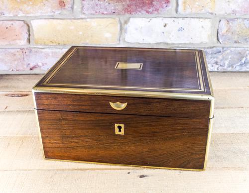 Rosewood Table Box c.1850 (1 of 1)