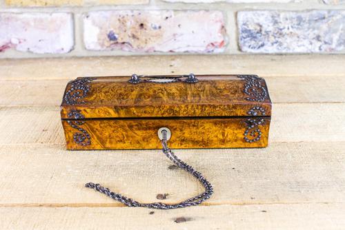 Amboyna Ladies Box c.1850 (1 of 1)