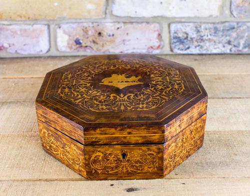 8 Sided Amboyna Table Box (1 of 1)