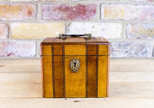 Satinwood Single Tea Caddy c.1870 (1 of 1)