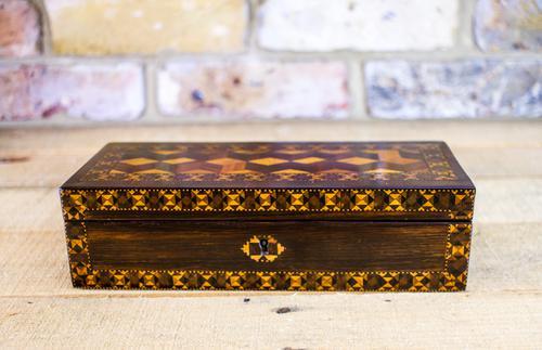 Ladies Antique Glove Box c.1860 (1 of 7)