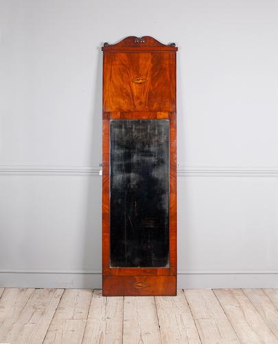 19th Century Full Length Mahogany Pier Mirror (1 of 7)