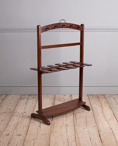 George III Mahogany Boot Rack (1 of 7)