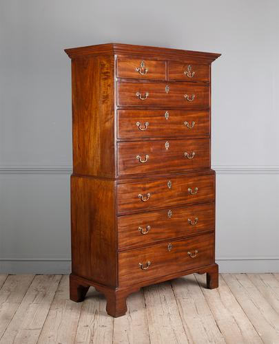 George III Mahogany Chest on Chest (1 of 6)