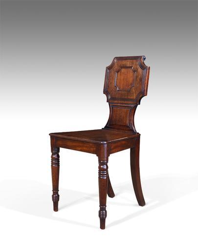 Regency Mahogany Hall Chair (1 of 1)