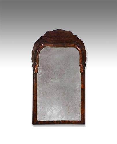 Georgian Walnut Mirror (1 of 1)