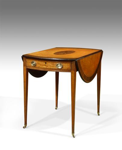 Satinwood Pembroke Table c.1790 (1 of 1)
