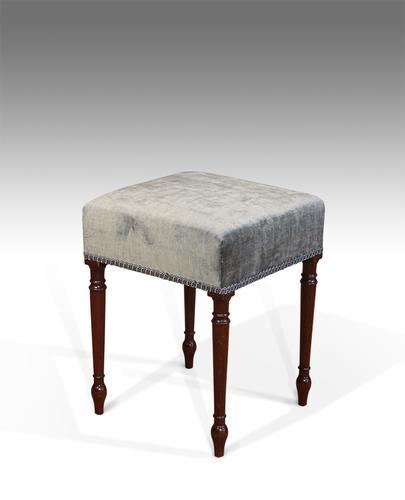 George IV Mahogany Stool c.1830 (1 of 1)