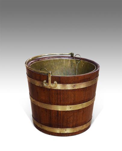 19th Century Brass Bound Bucket (1 of 1)