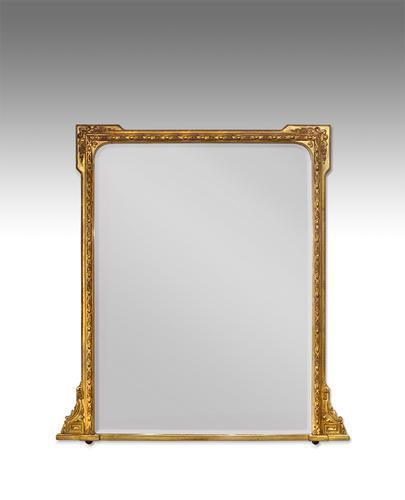 Gilt Overmantel Mirror c.1880 (1 of 1)