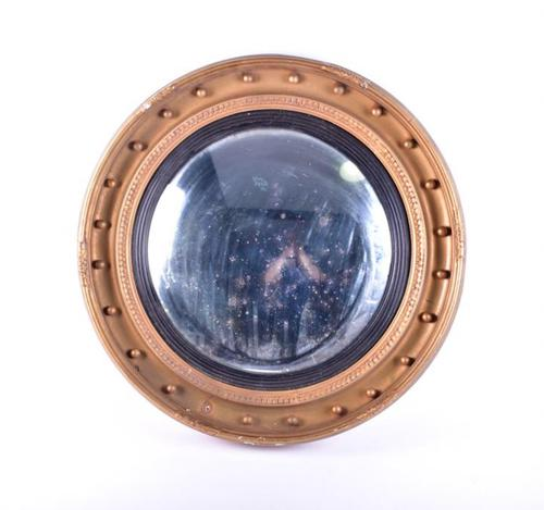 19th Century Large Convex Mirror (1 of 1)
