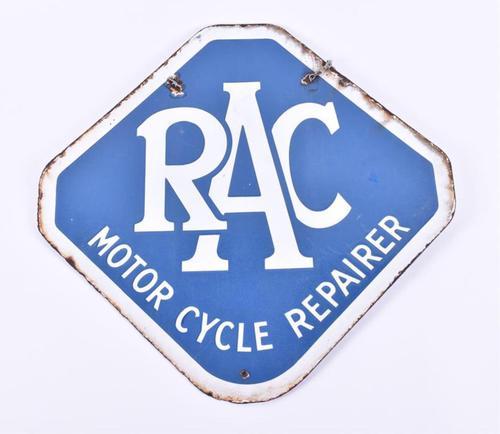 Rac Motorcycle Repairer Enamel Sign (1 of 1)