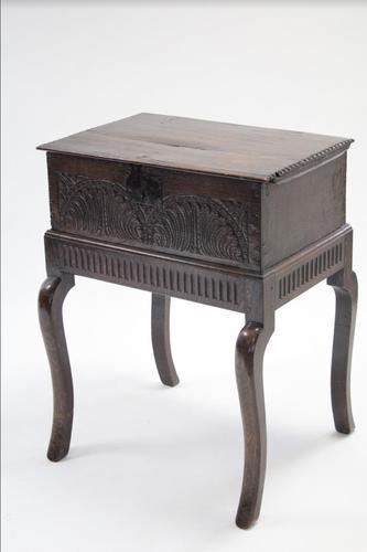 17th Century Oak Bible Box on Stand (1 of 1)